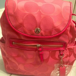 Coach pink backpack brand new